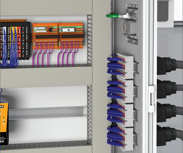 moduplug-wall Электромонтаж через стенку шкафа управления